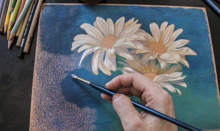 Fascinating Oil Pencil Drawing Easy How To Blend Colored Pencils Pic