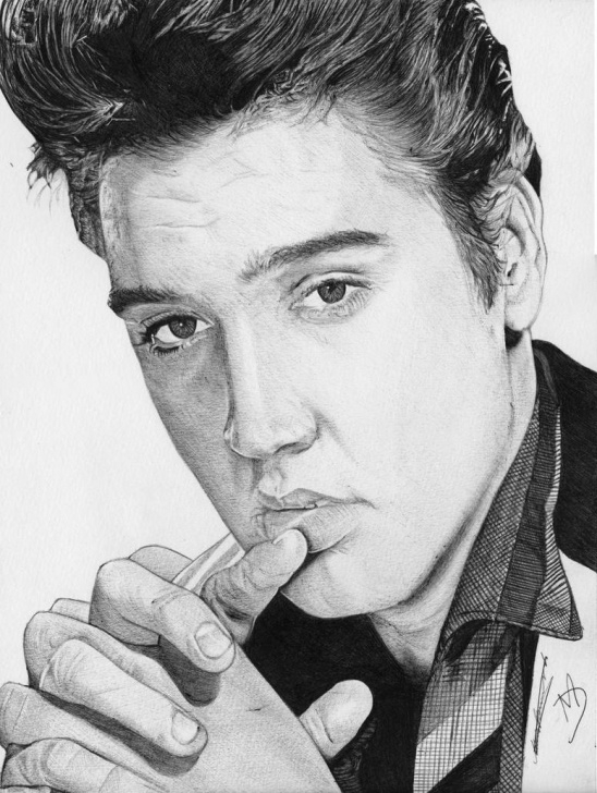 Fascinating Pencil Drawing Of Elvis Presley for Beginners Elvis Drawing At Paintingvalley | Explore Collection Of Elvis Photos