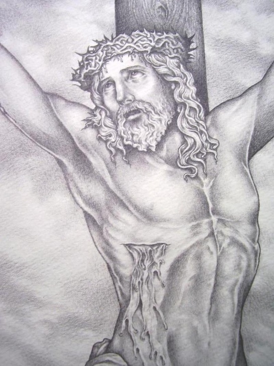 Fascinating Pencil Drawings Of Jesus On The Cross for Beginners Pencil Drawing Of Jesus On The Cross Tattoo - Tattoos Book - 65.000 Picture