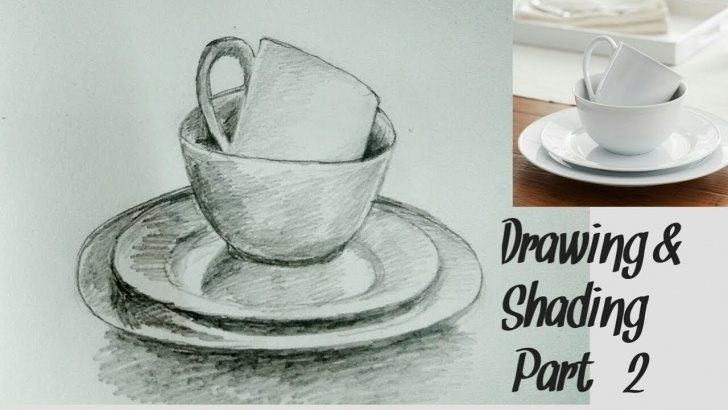 Fascinating Pencil Shading Objects Techniques Cup Drawing || How To Draw A Cup With Pencil Shading # Easy Object Drawing Photo