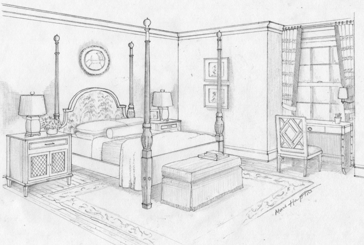 Fascinating Pencil Sketch Of A Bedroom Courses Pics For > Dream Room Drawing | Children's Inspirational Photos