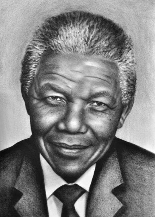 Fascinating Pencil Sketch Of Nelson Mandela Tutorials Nelson Mandela Drawings / Sketch By Stefan Pabst - Artist Pictures