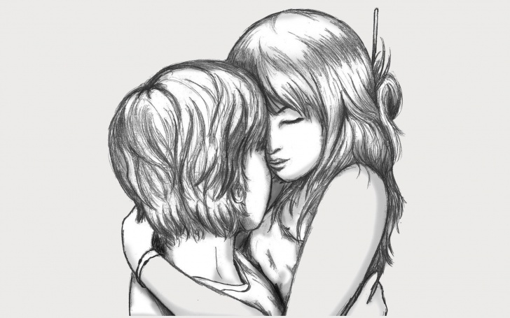Fascinating Pencil Sketches Of Love Couples Ideas 27+ Love Drawings, Pencil Drawings, Sketches   Freecreatives Photo