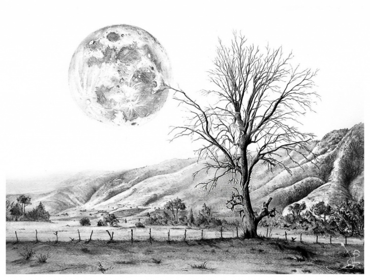 Fascinating Pencil Sketches Of Nature Scenery Free Scenery Drawing Pencil - Scenery Pics