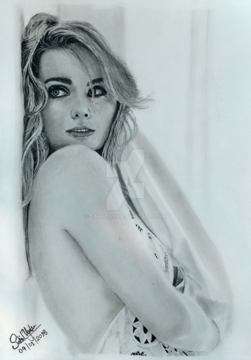 Fascinating Realistic Pencil Sketch Ideas Realistic Pencil Drawing Of Margot Robbie By Sahilsly On Deviantart Images
