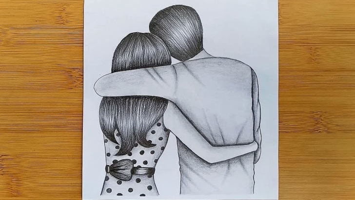 Fascinating Romantic Couple Sketch for Beginners How To Draw Romantic Couple With Pencil Sketch Step By Step Image