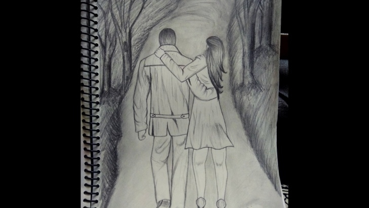Fascinating Romantic Couple Sketch Techniques How To Draw A Romantic Couple Holding Hands Photo