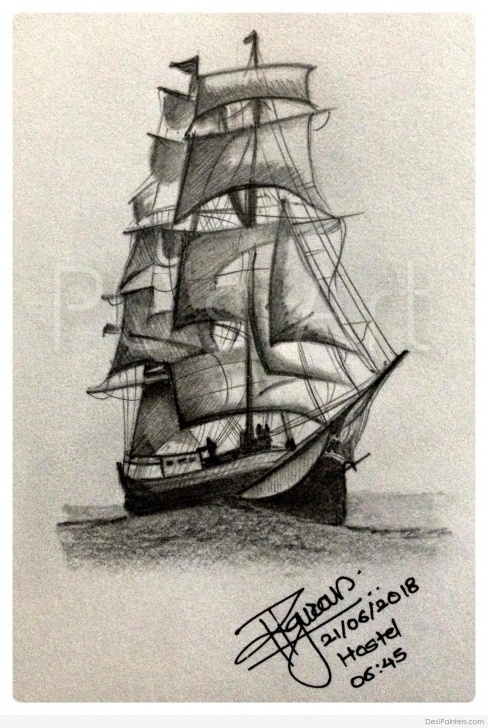 Fascinating Ship Pencil Sketch Easy Pencil Sketches Pictures