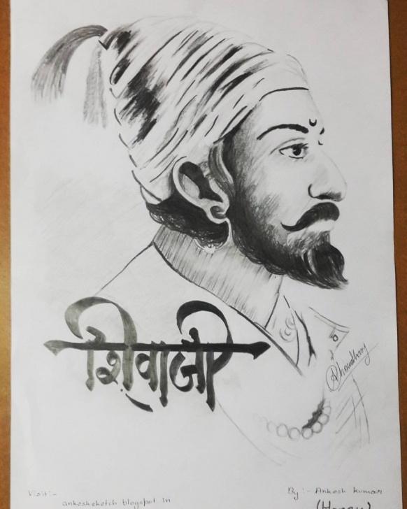 Fascinating Shivaji Maharaj Pencil Drawing Simple Shivaji Maharaj Pencil Sketch And Sketch.ak - 8+ Awesome Shivaji Pic