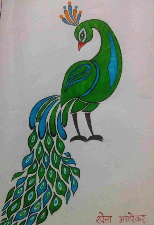 Fascinating Simple Pencil Sketch Of Peacock Easy Simple Pencil Sketch Of Peacock | Drawing Work Pic