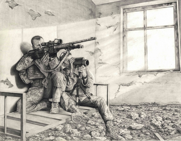Fascinating Soldier Pencil Drawing Step by Step Sketch Artist': Soldier Uses Pencil To Capture Army Life | Article Picture
