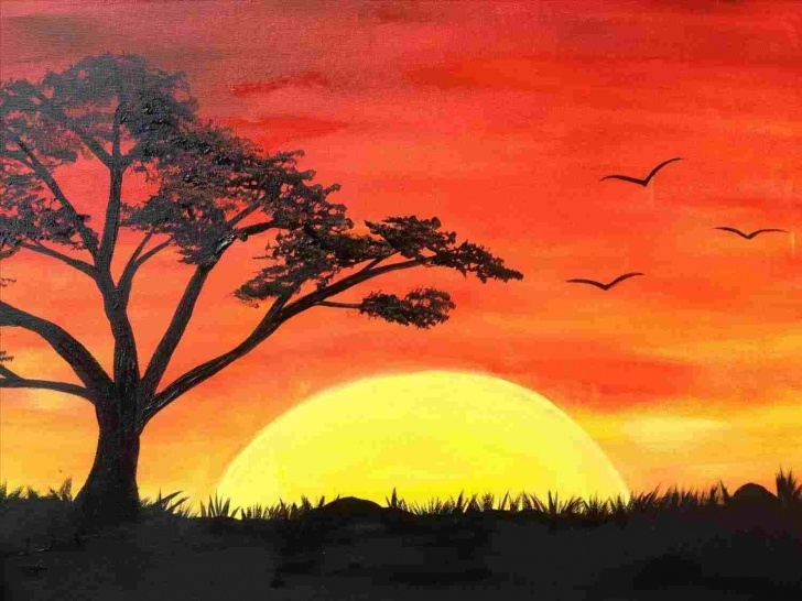 Fascinating Sunset Drawings In Pencil Tutorials Pencil Easy Sunset Drawing | Drawing Work Pic