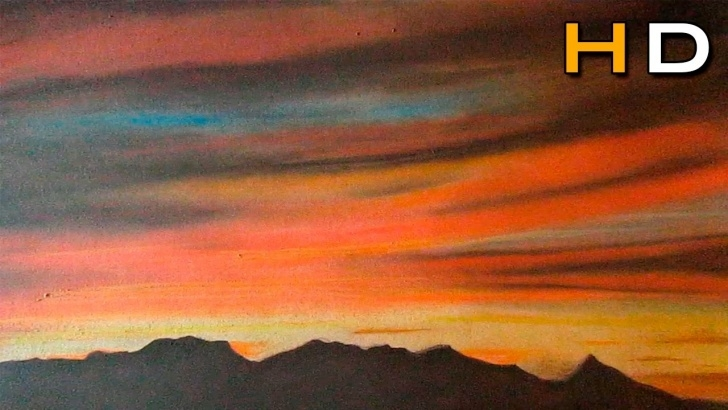 Fascinating Sunset With Colored Pencils Lessons How To Draw A Sunset With Colored Pencils Pitt Pastel - Drawing Landscape Pic