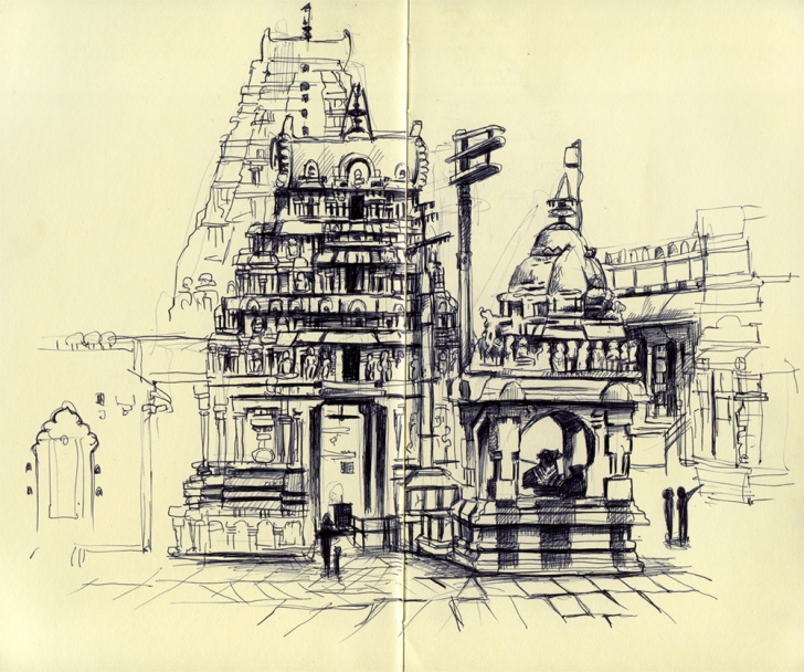 Fascinating Temple Pencil Sketch Techniques Indian Temple Pencil Sketch - Google Search | 排版 | Indian Temple Photo