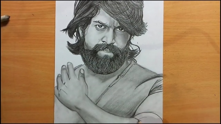 Fascinating Yash Pencil Sketch for Beginners Kgf Drawing | Rocking Star Yash | Pencil Sketch ~ Narrow Uttam Drawing Photo