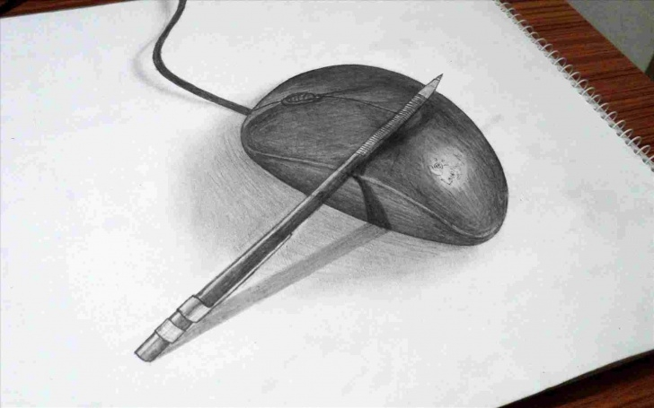 Fine 3D Pencil Drawings Easy Techniques Sketch Beginner 3D Drawing Images