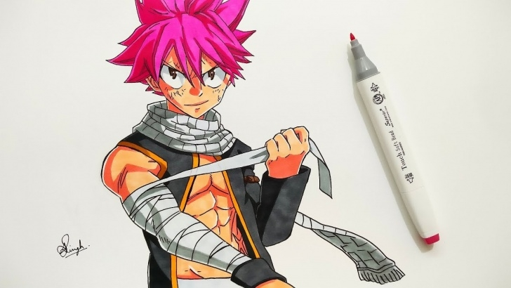 Fine Aayush Pencil Art Tutorial Drawing Natsu - Fairytail (Requested) Pictures