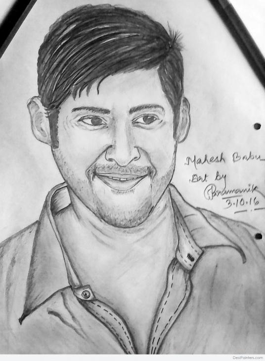 Fine Attractive Pencil Drawings Techniques Attractive Pencil Sketch Of Mahesh Babu | Desipainters Picture
