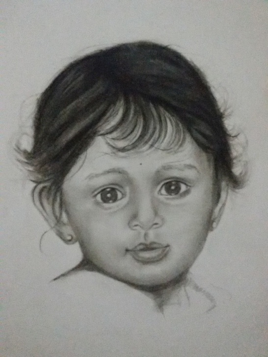 "Fine Baby Girl Pencil Drawing Lessons My Paintings / Art Work: ""baby Girl"" Pencil Sketch Pic"