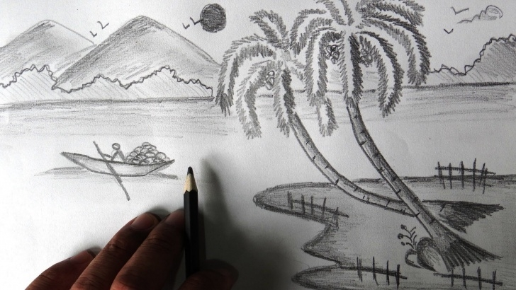 Fine Beautiful Pencil Sketches Of Nature Step by Step Beautiful Nature Pencil Sketch (1920X1080) | Art In 2019 | Pencil Images