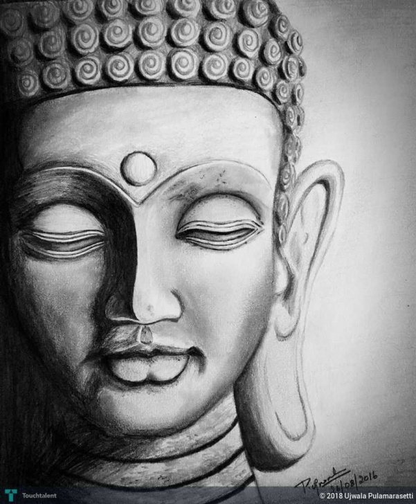 Fine Buddha Pencil Sketch Ideas Lord Buddha | Touchtalent - For Everything Creative Pic