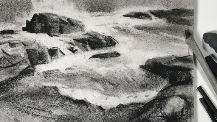 Charcoal Landscape Sketches