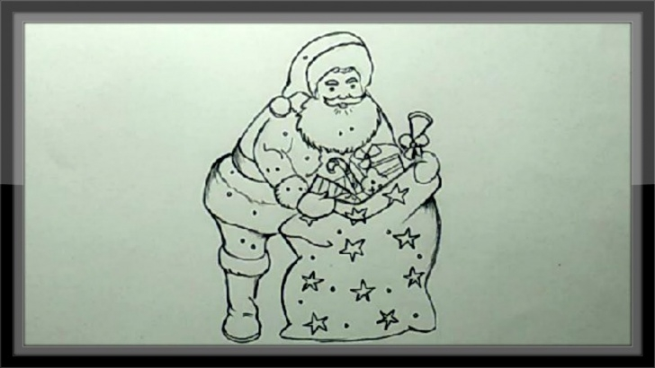 Fine Christmas Pencil Drawings Easy Simple Christmas Drawings - Pencil Drawing Santa Claus Easy Images