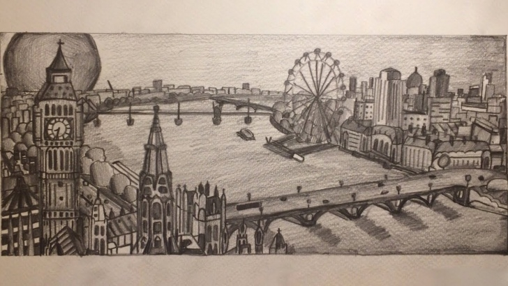Fine City Pencil Drawing Tutorials Drawing The London City Skyline With Hb Pencil Images