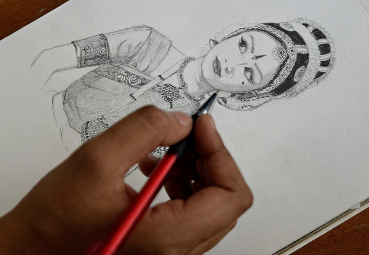 Fine Classical Dance Pencil Drawing Lessons Kathak Paintings Search Result At Paintingvalley Pic