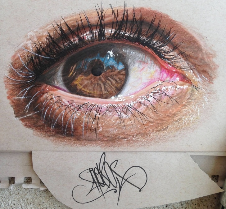 Fine Colored Pencil Eye Drawing for Beginners Get Inspired To Try Colored Pencils With Realistic Color Pencil Art Pic