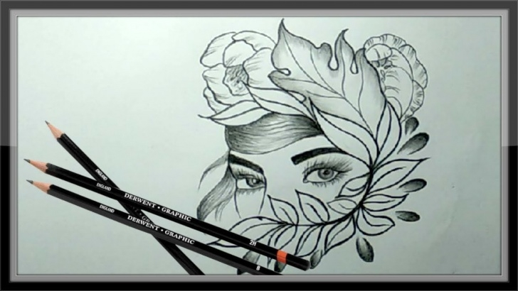 Fine Cool Pencil Art Techniques Cool Pencil Drawing A Beautiful Face Picture ➤Easy Photos