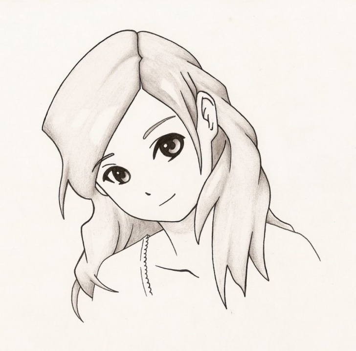 Fine Cute Anime Drawings In Pencil Tutorials Image Result For Cute Anime Girl Easy To Draw | Cute Girl Drawing In Pics