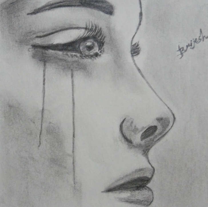 Fine Depressing Pencil Drawings Techniques for Beginners Depressed Girl Sketch At Paintingvalley | Explore Collection Of Pic