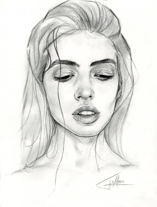 Fine Different Pencil Drawing Techniques for Beginners Original Drawing 2015, Signed 20,5 X 27,5Cm Drawn Using Different Pictures