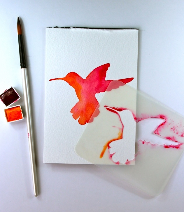 Fine Easy Stencil Painting Step by Step How To Impress With Your Watercolour Skills, Even If You Have None… Image