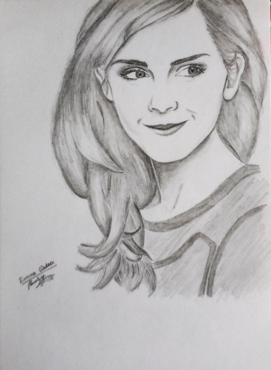 Fine Emma Watson Pencil Drawing Tutorials Emma Watson Sketch At Paintingvalley | Explore Collection Of Photos