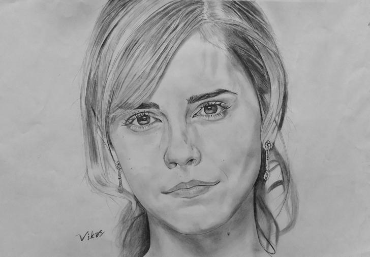 Fine Emma Watson Pencil Sketch Tutorials Sourcewing: Pencil Drawing Of Emma Watson Photo