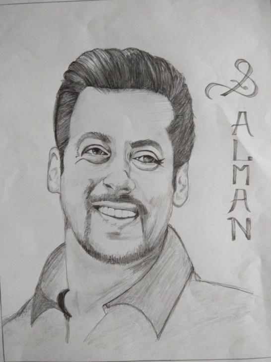 Fine Famous Pencil Sketches Lessons Salman Khan Sketch | Sketches Of Famous People In 2019 | Sketches Pics