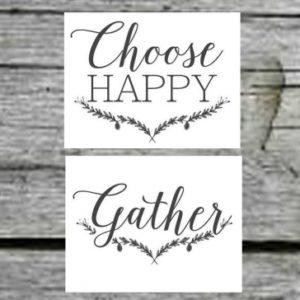 Fine Free Printable Wall Art Stencils Free Farmhouse Free Printable Set-Gather-Choose Joy-Welcome Home Pics