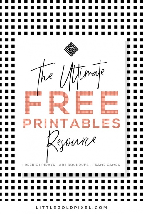 Fine Free Printable Wall Art Stencils Lessons Free Printables • Free Wall Art Roundups • Little Gold Pixel Pictures