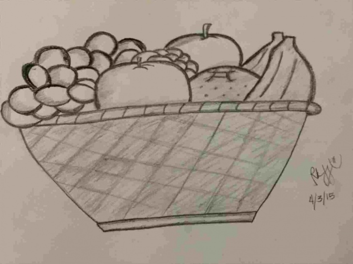 Fine Fruit Basket Pencil Drawing Lessons Pencil Sketches Of Fruit Basket Pics