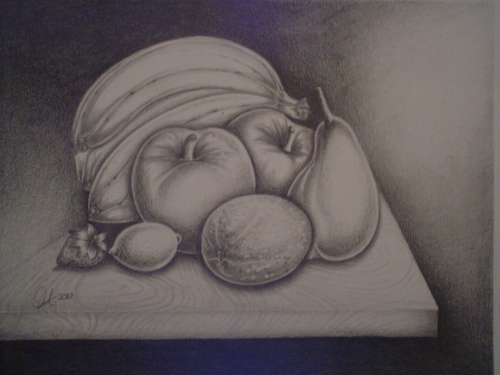 Fine Fruits Pencil Drawing Step by Step Black And White Pencil Drawing Of Fruits | Owengerardlafon | Foundmyself Images