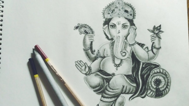 Fine Ganpati Bappa Pencil Sketch Step by Step Ganpati Bappa / Ganesha Drawing / How To Draw Ganesha/ Diwali Special Diy  Art Pics