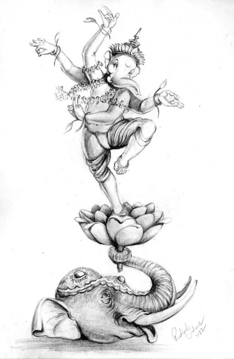 Fine Ganpati Bappa Pencil Sketch Techniques Pin By Hrishi On Ganpati Bappa Morya In 2019 | Ganesha Painting Images