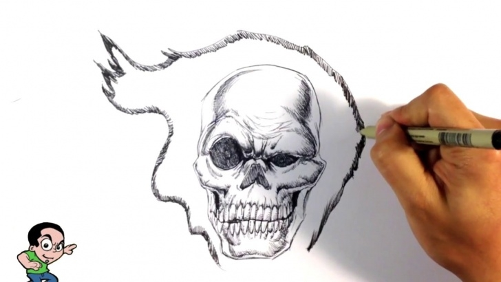 Fine Ghost Rider Drawings In Pencil Simple Awesome Ghost Rider - Speed Drawing - Easy Drawings Images