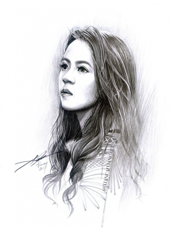Fine Girl Drawing Pencil Techniques Asian Girl Portrait Sketch | Pencil Sketch In 2019 | Portrait Image