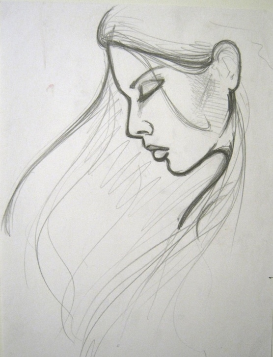 Fine Girl Pencil Sketch Drawing Tutorial Sketch Of A Sad Girl At Paintingvalley | Explore Collection Of Pictures