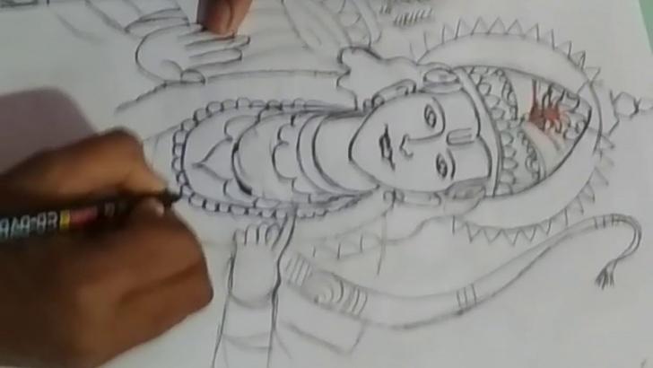 Fine God Pencil Sketch Easy Hindu God Sri Rama Pencil Drawing Art Work Images