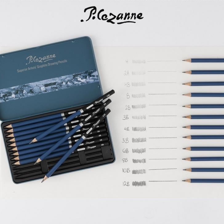 Fine Graphite Pencil Range Tutorials Cezanne Graphite Pencil Tin Set Of 12 Pic