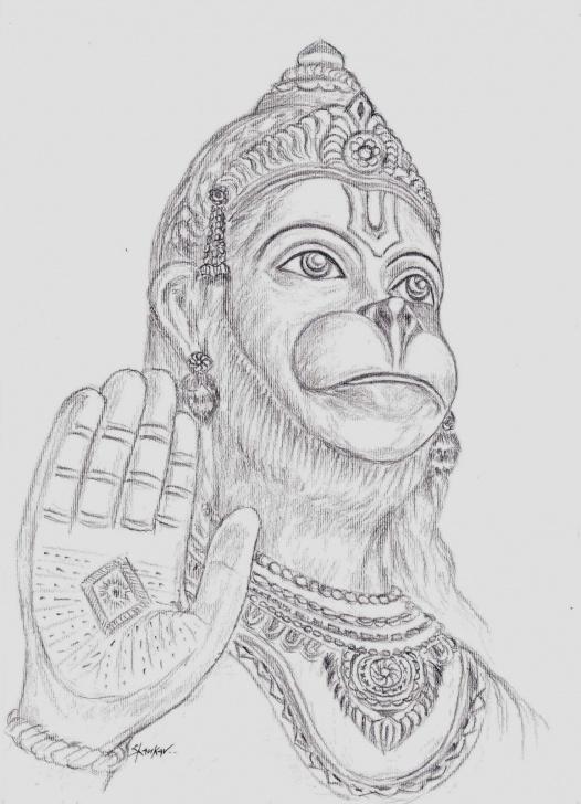 Fine Hanuman Pencil Art Courses Hanuman Ji Pencil Sketch And Hanuman Pencil Sketch Pencil Painting Photo